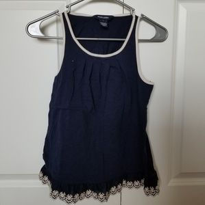 Ralph Lauren girls laced navy tank